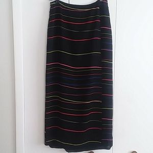 Judith Hart Collection Striped Wrap Maxi Skirt